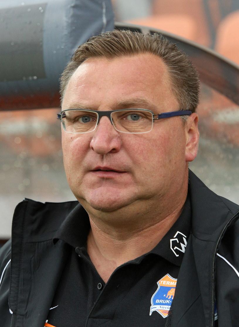 Trener Termaliki Czesław Michniewicz /Fot. Stanisław Rozpędzik /PAP