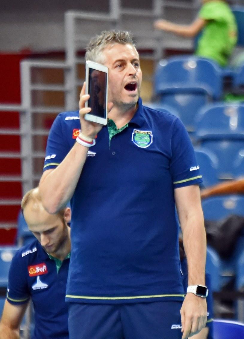 Trener Trefla Proximy Kraków Alessandro Chiappini /Fot. Michał Lasyk /Reporter