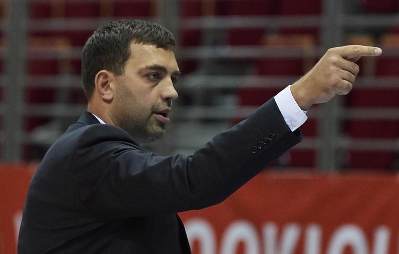 Trener Trefla Sopot Marcin Stefański /Adam Warżawa /PAP
