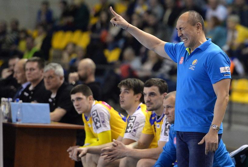 Trener Vibe Tauronu Kielce Tałant Dujszebajew /Fot. Piotr Polak /PAP