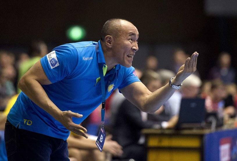 Trener Vive Kielce Tałant Dujszebajew /AFP