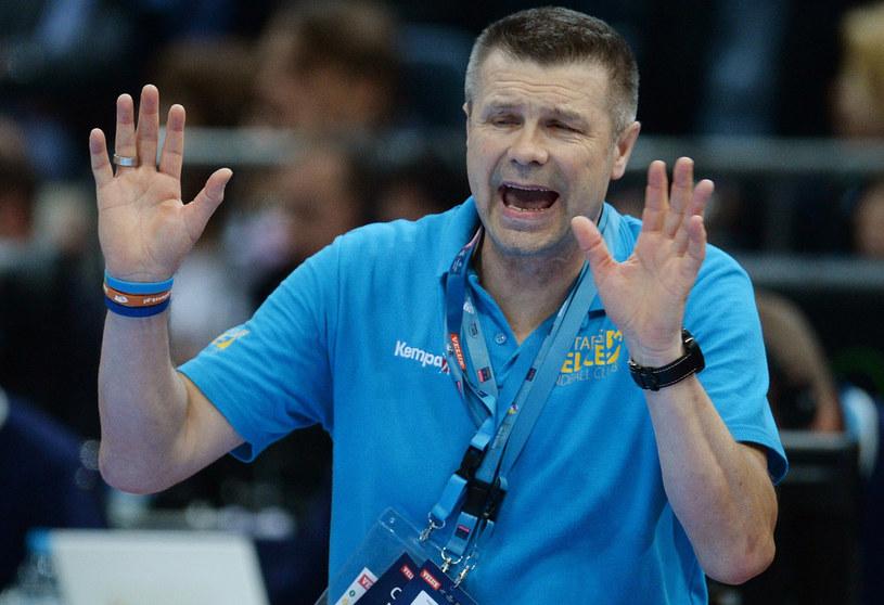 Trener Vive Targów Kielce, Bogdan Wenta /AFP