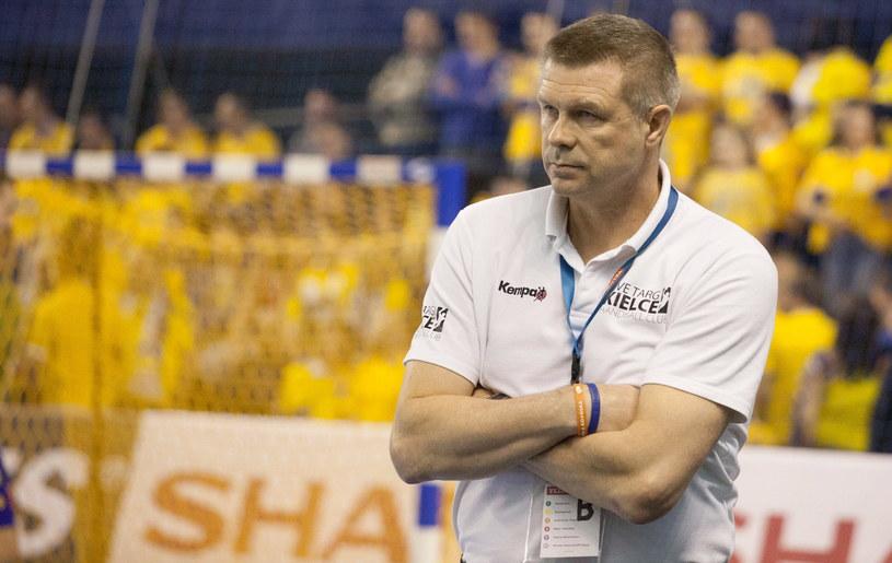 Trener Vive Targów Kielce Bogdan Wenta /AFP