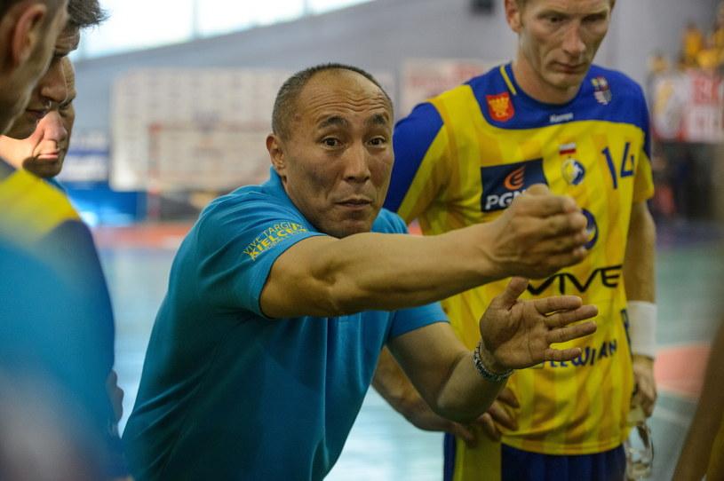 Trener Vive Targów Kielce Talant Dujszebajew /Fot. Wojciech Pacewicz /PAP