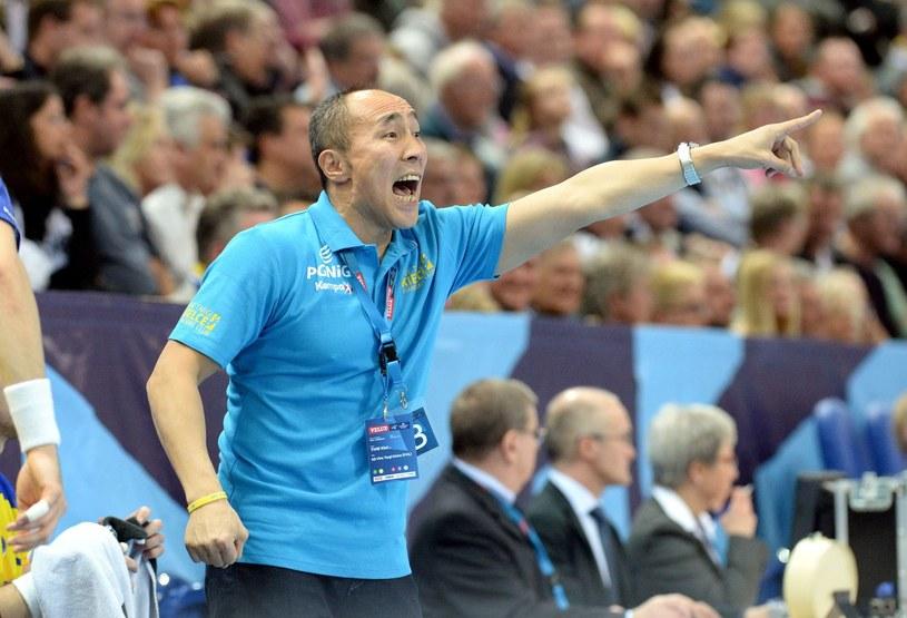 Trener Vive Targów Kielce Tałant Dujszebajew. /AFP
