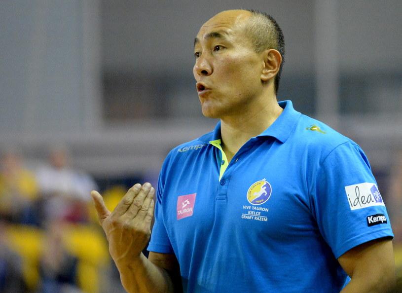 Trener Vive Tauron Kielce Tałant Dujszebajew /Fot. Piotr Polak /PAP