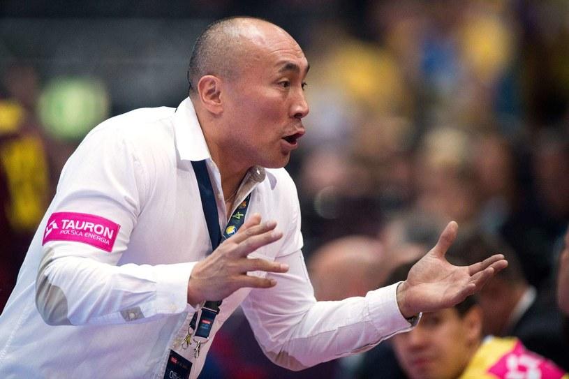 Trener Vive Tauronu Kielce Tałant Dujszebajew /AFP
