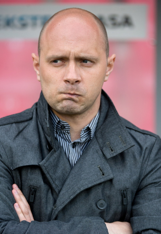 Trener Widzewa Łódź Artur Skowronek /Fot. Grzegorz Michałowski /PAP