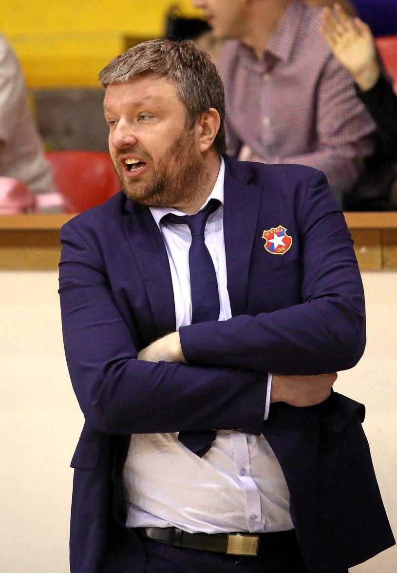 Trener Wisły CanPack Kraków Krzysztof Szewczyk /Stanisław Rozpędzik /PAP