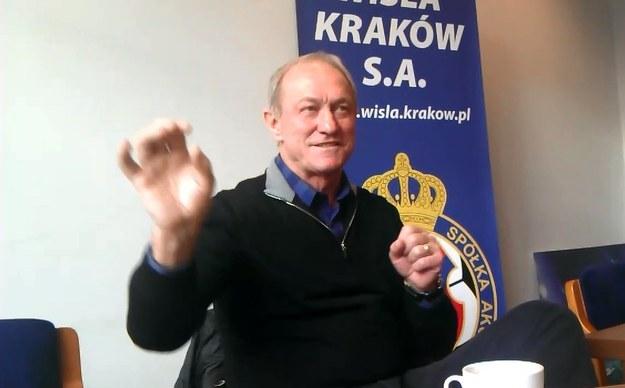 Trener Wisły Franciszek Smuda /Michał Białoński /INTERIA.PL