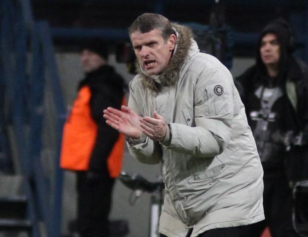 Trener Wisły - Kazimierz Moskal. Fot. Stanisław Rozpędzik /PAP