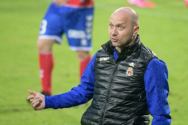 Trener Wisły Kraków Artur Skowronek /Grzegorz Michałowski   /PAP