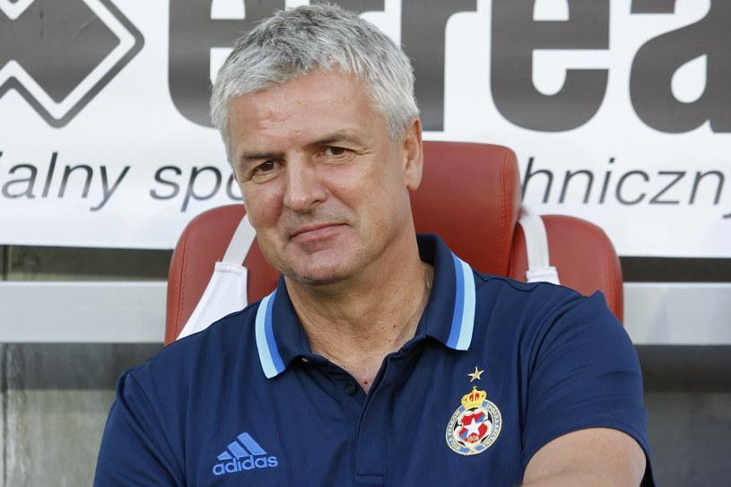 Trener Wisły Kraków Dariusz Wdowczyk /Artur Reszko /PAP