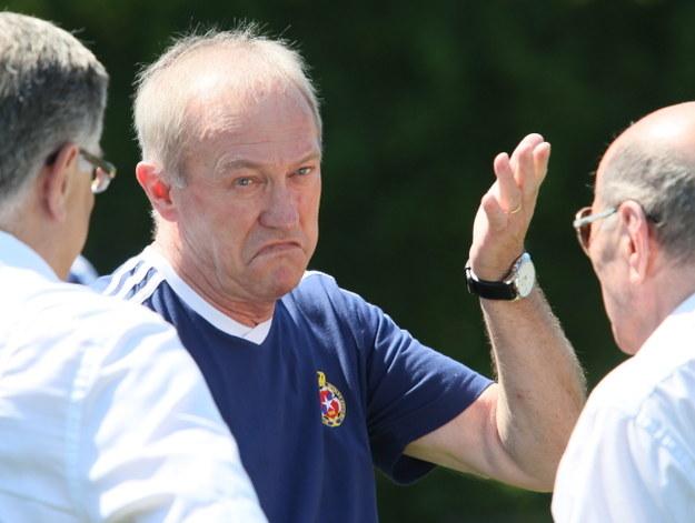 Trener Wisły Kraków - Franciszek Smuda /Stanisław Rozpędzik /PAP