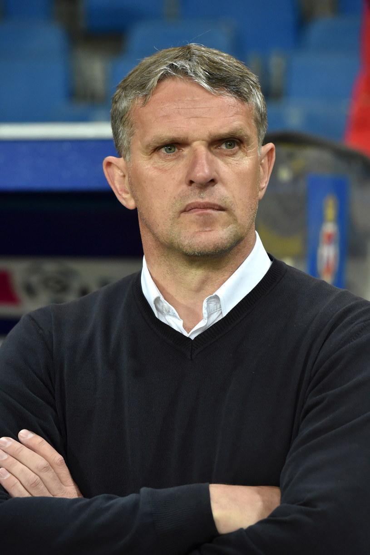 Trener Wisły Kraków Kazimierz Moskal /fot. Jacek Bednarczyk /PAP