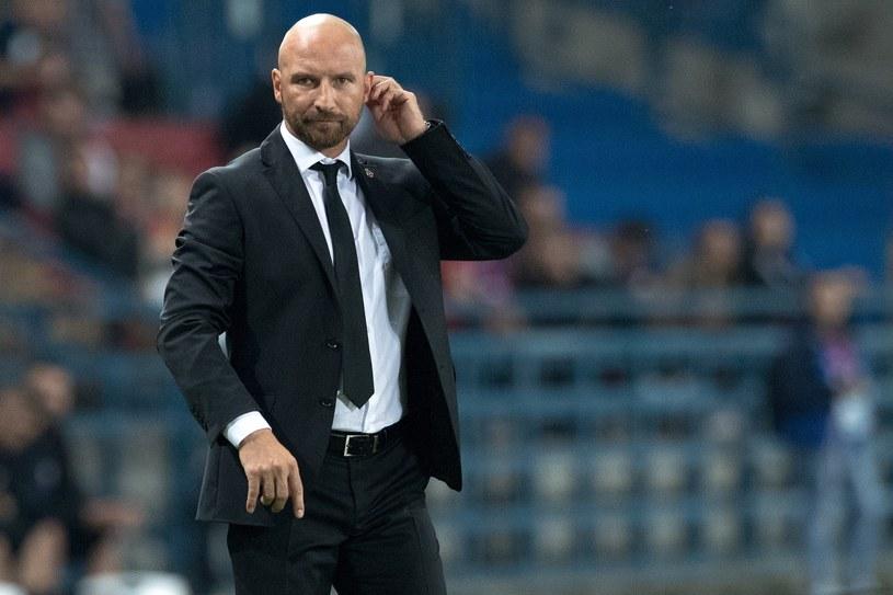 Trener Wisły Kraków Maciej Stolarczyk /Andrzej Iwańczuk /Reporter