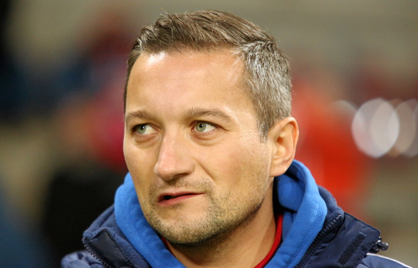 Trener Wisły Kraków Marcin Broniszewski /Fot. Stanisław Rozpędzik /PAP