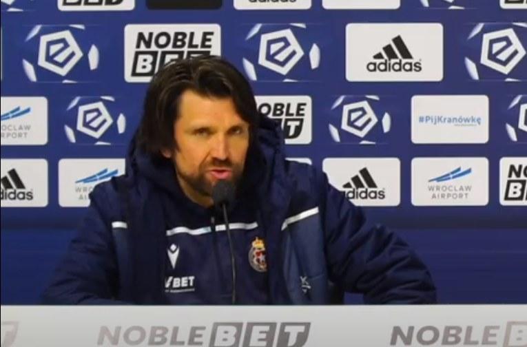 Trener Wisły Kraków Peter Hyballa po meczu ze Śląskiem Wrocław /INTERIA.PL