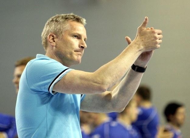 Trener Wisły Płock Lars Walther /Piotr Polak /PAP