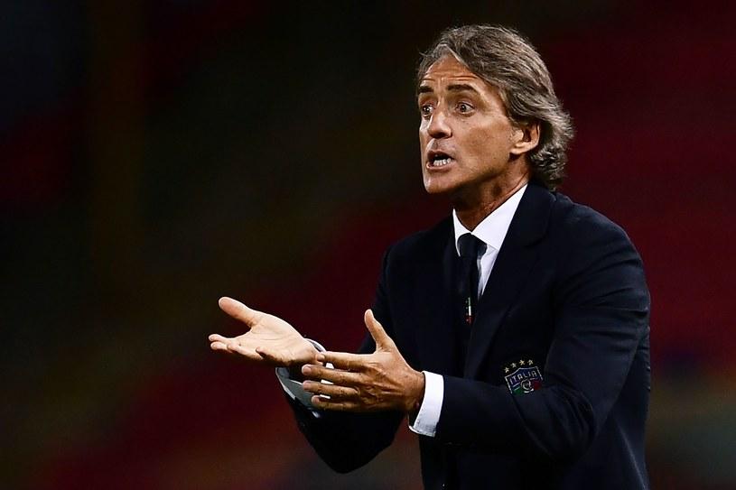 Trener Włochów Roberto Mancini /AFP