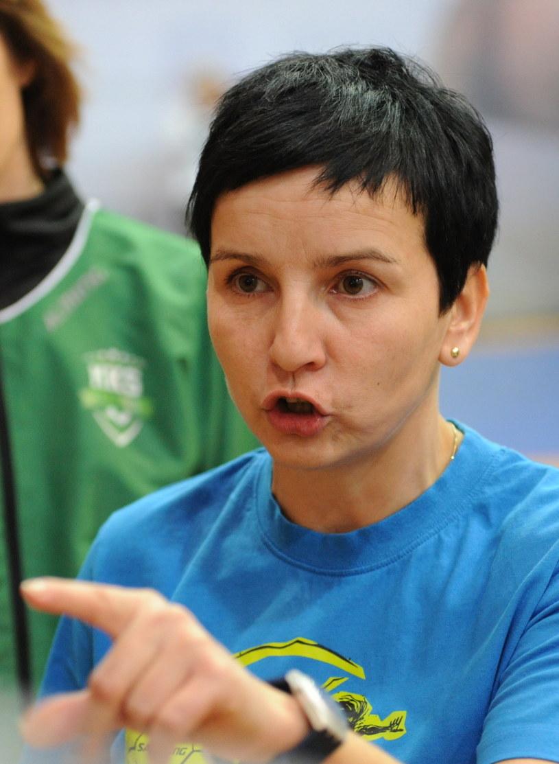 Trenerka MKS Selgros Lublin Sabina Włodek /Fot. Marcin Bielecki /PAP