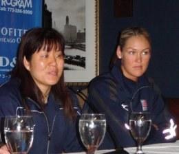 Trenerka reprezentacji USA Jenny Lang Ping i Jennifer Joines /Przemysław Garczarczyk