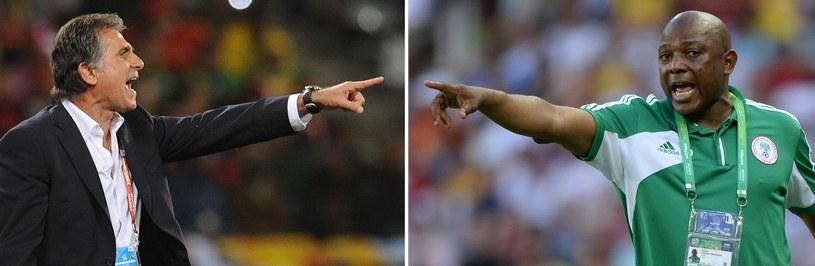 Trenerzy Carlos Queiroz i Stephen Keshi /AFP