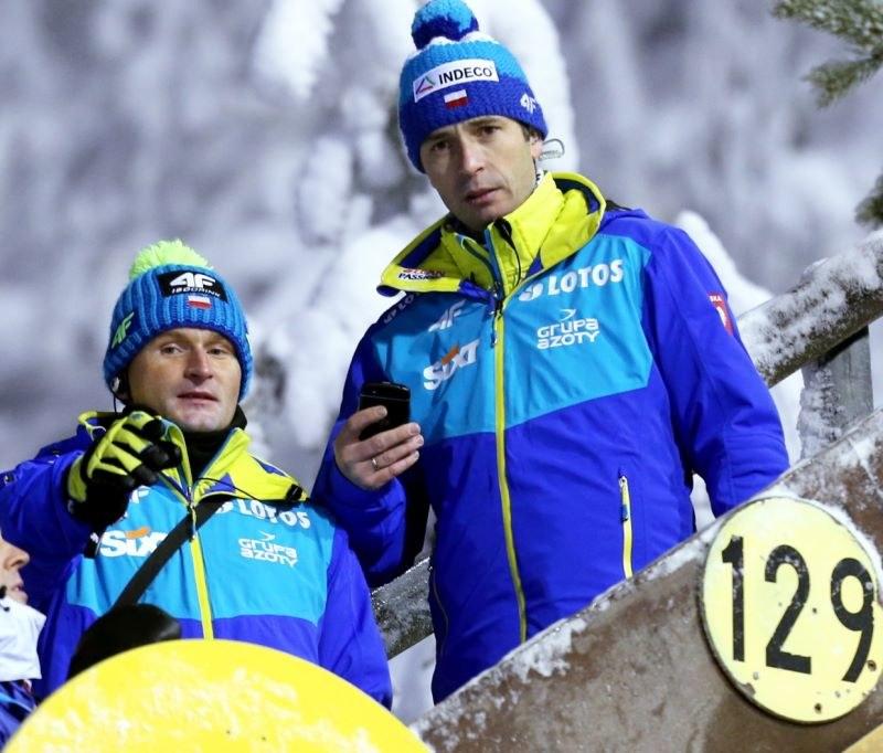 Trenerzy Maciej Maciusiak (L) i Łukasz Kruczek /Grzegorz Momot /PAP