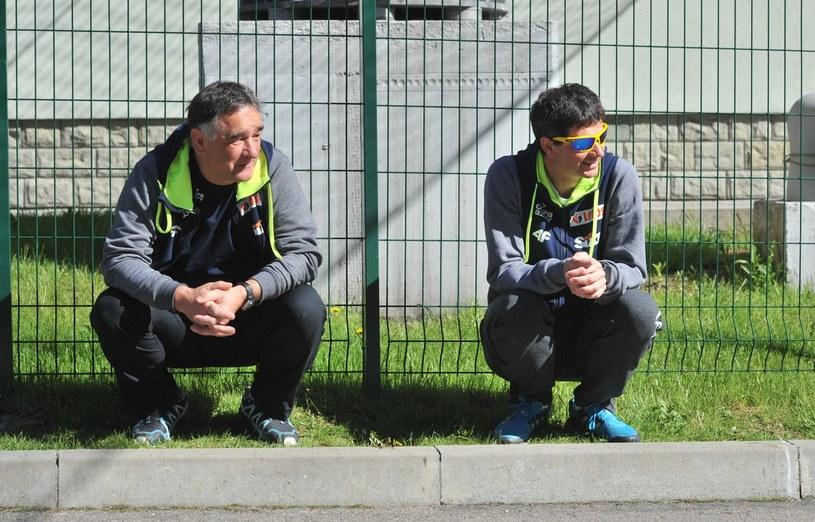 Trenerzy Zbigniew Klimowski (z lewej) i Stefan Horngacher /fot. Michał Klag /East News