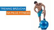 Trening brzucha na piłce fitness