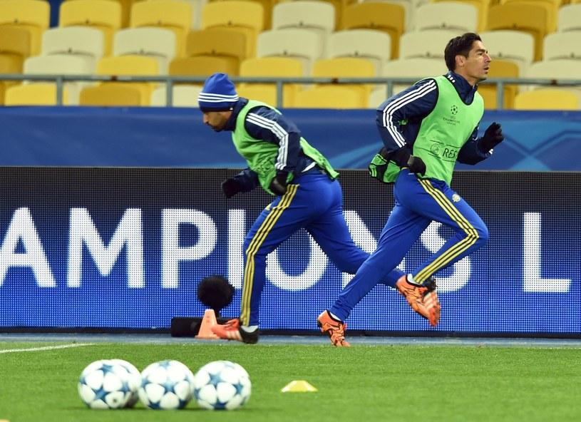 Trening na Stadionie Olimpijskim w Kijowie /AFP
