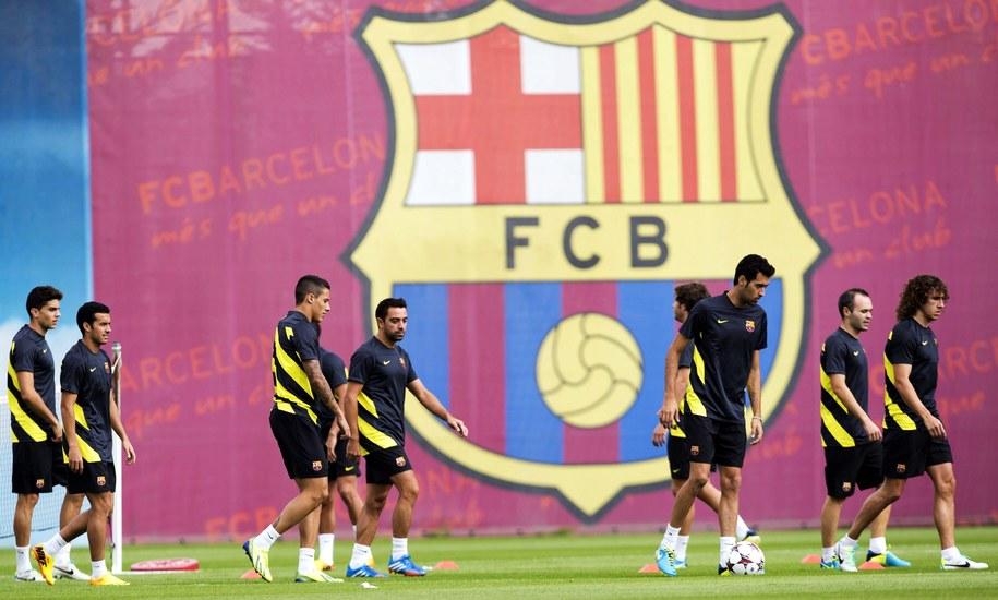 Trening piłkarzy Barcelony /ALEJANDRO GARCIA  /PAP/EPA