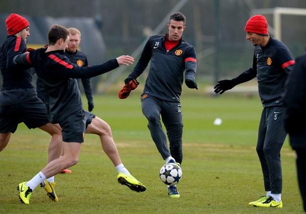 Trening piłkarzy Manchesteru United /AFP
