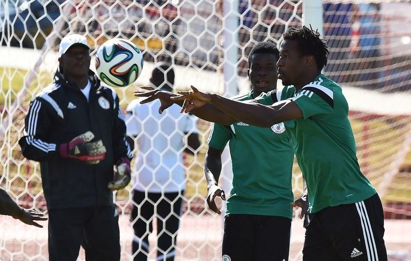 Trening piłkarzy Nigerii /AFP