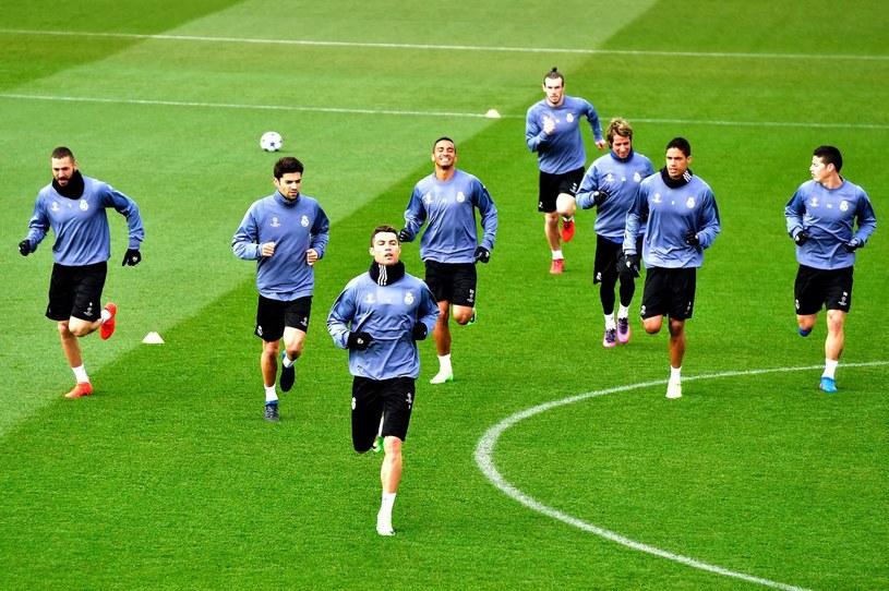 Trening piłkarzy Realu Madryt /AFP