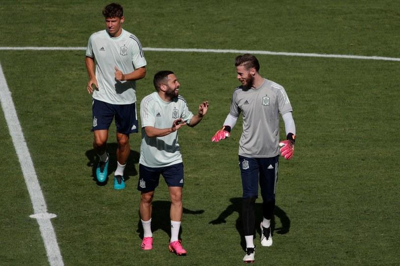 Trening piłkarzy reprezentacji Hiszpanii /AFP /AFP