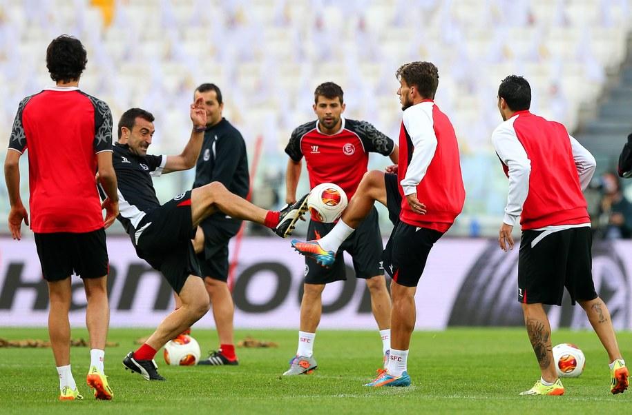Trening piłkarzy Sevilli /SRDJAN SUKI /PAP/EPA