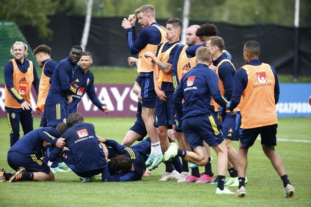 Trening szwedzkiej drużyny /Henrik Brunnsgard /PAP/EPA