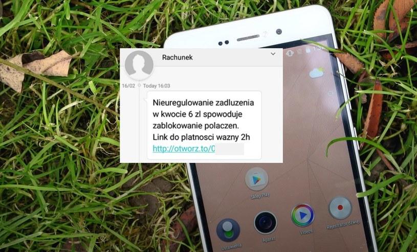 Treść wysyłanego przez oszustów SMS-a (opublikowana przez Orange) /INTERIA.PL
