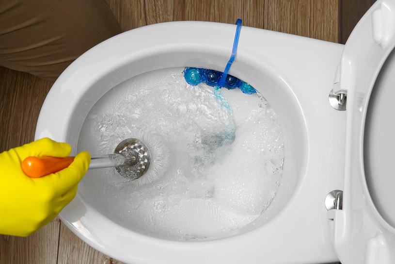 Trik z płynem do naczyń to najprostszy sposób na udrożnienie toalety /123RF/PICSEL