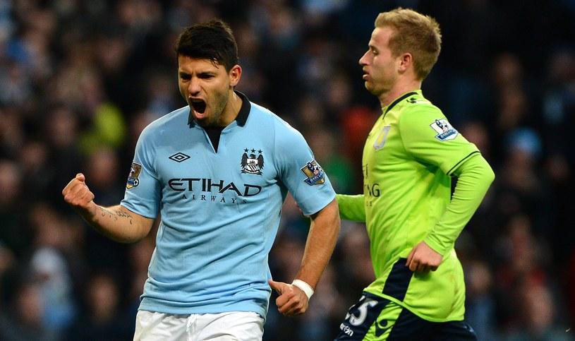 Triumfujący Sergio Aguero z Manchesteru City /AFP