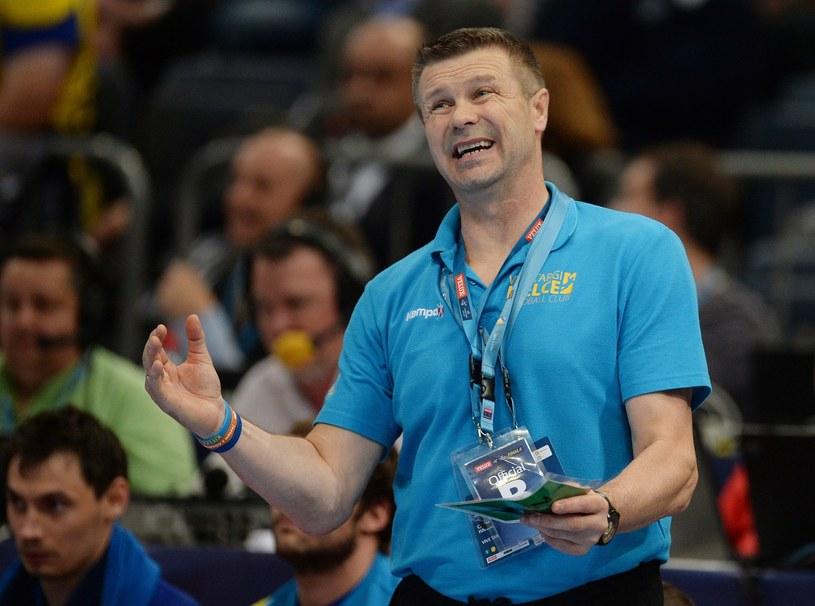Trochę śmiesznie, trochę strasznie. Bogdan Wenta był zaskoczony tym, co działo się podczas losowania 1/2 LM /AFP