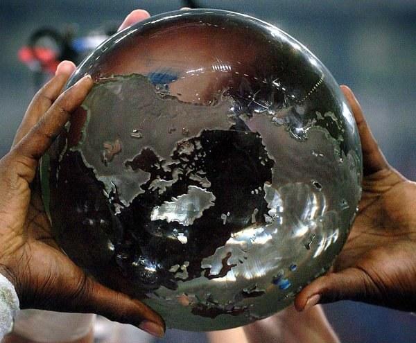 Trofeum dla najlepszej drużyny NFL Europe /AFP