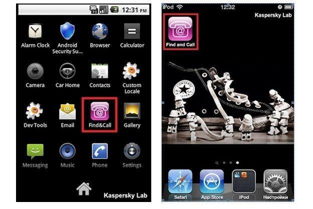 Trojan Find and Call zainstalowany na smartfonach, od lewej: Android, iOS /materiały prasowe