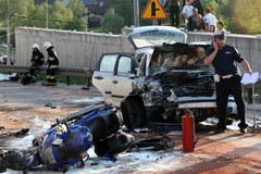 Troje motocyklistów zginęło w wypadku na Zakopiance