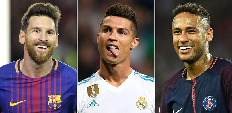 Trójka nominowanych (od lewej): Messi, Ronaldo i Neymar /AFP