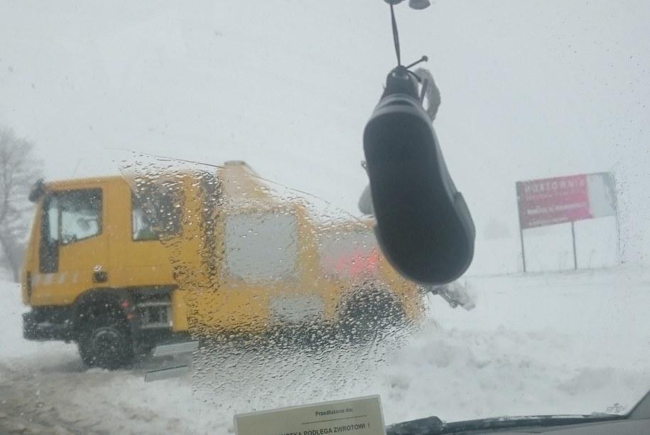 Trudne warunki na drogach. /Bartłomiej Cieślak /Gorąca Linia RMF FM