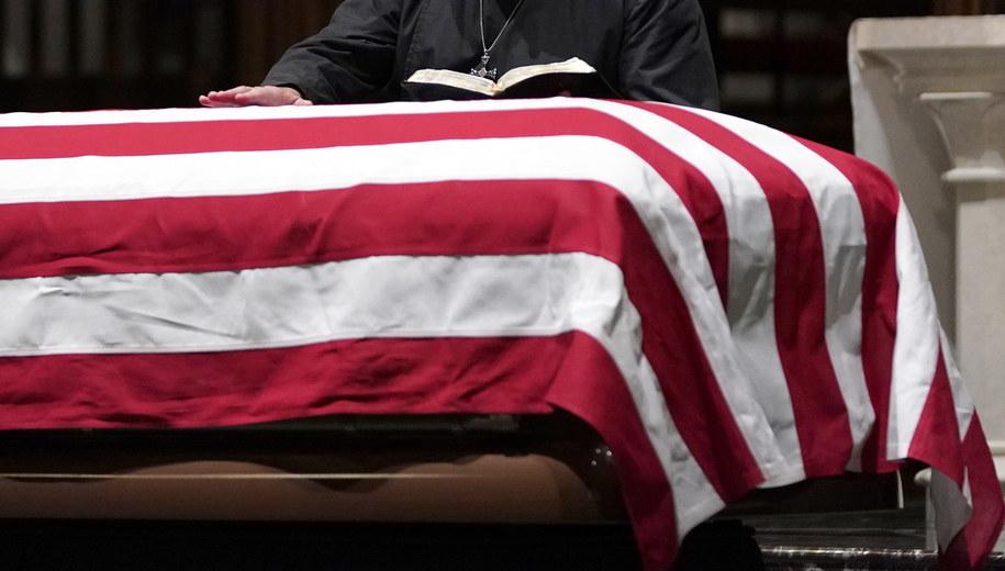 Trumna George Busha seniora / David J. Phillip/Pool via REUTERS /PAP/EPA