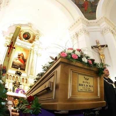 Trumna Hanki Bielickiej - fot. Piotr Grzybowski /Agencja SE/East News