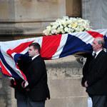 Trumna z ciałem Thatcher w drodze do katedry św. Pawła